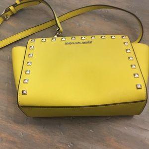Yellow Michael Kors satchel